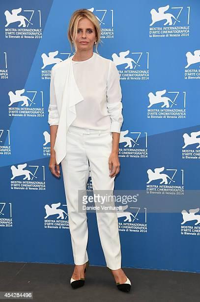 Isabella Ferrari attends 'La Vita Oscena' Photocall during the 71st Venice Film Festival at Palazzo Del Casino on August 28 2014 in Venice Italy