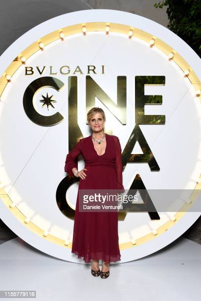 Isabella Ferrari attends the Bvlgari Hight Jewelry Exhibition on June 13 2019 in Capri Italy