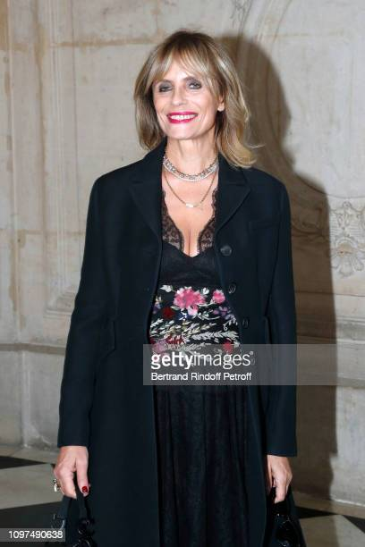 Isabella Ferrari attends the Christian Dior Haute Couture Spring Summer 2019 show as part of Paris Fashion Week on January 21 2019 in Paris France