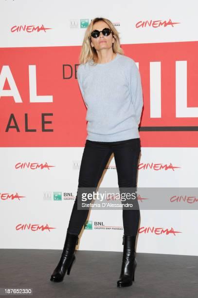 Isabella Ferrari attends the 'Il Venditore Di Medicine' Photocall during the 8th Rome Film Festival at the Auditorium Parco Della Musica on November...