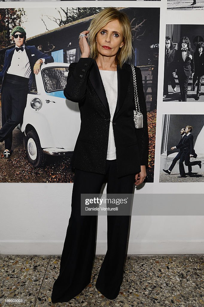 Isabella Ferrari attends the 'So Chic So Stylish' cocktail party as part of Milan Fashion Week Menswear Autumn/Winter 2013 on January 14, 2013 in Milan, Italy.