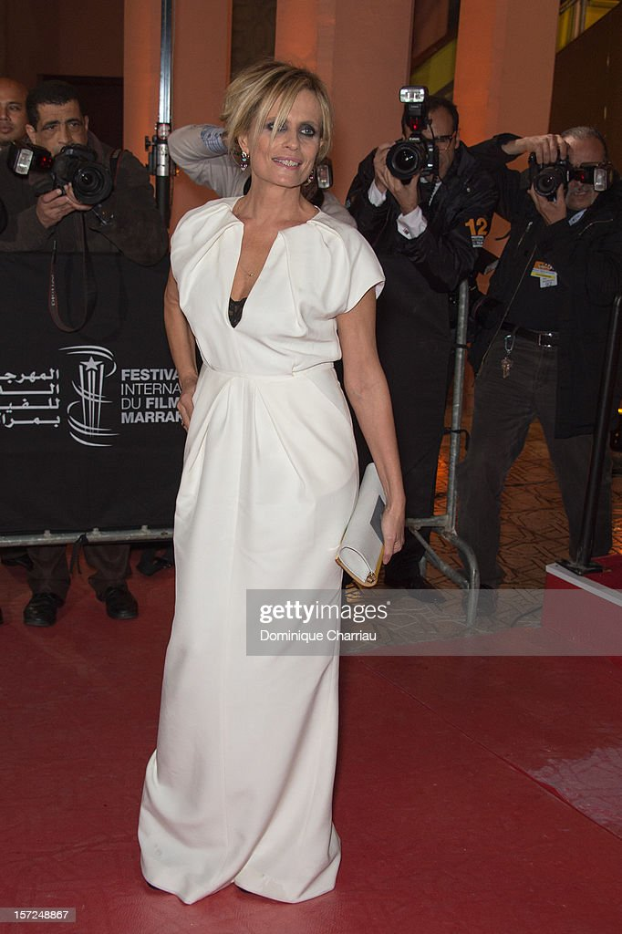 Isabella Ferrari Attends the 'Touch Of The Light' Opening Film of the 12th Marrakech International Film Festival on November 30, 2012 in Marrakech, Morocco.