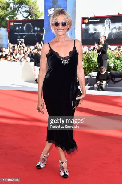 Isabella Ferrari from 'Diva' movie walks the red carpet ahead of the 'Foxtrot' screening during the 74th Venice Film Festival at Sala Grande on...