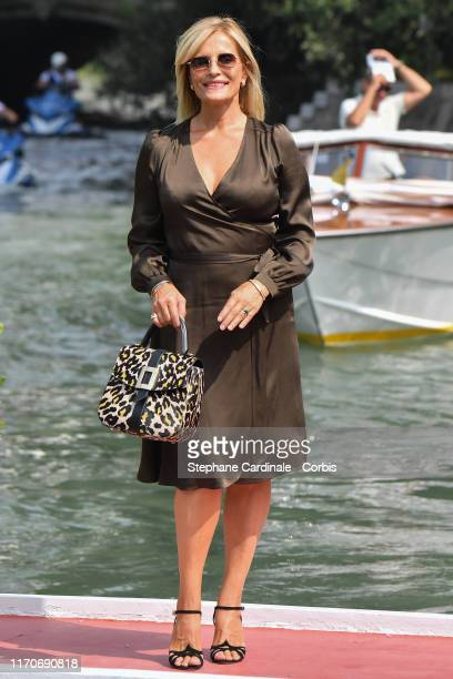 Isabella Ferrari is seen arriving at the 76th Venice Film Festival on August 28 2019 in Venice Italy
