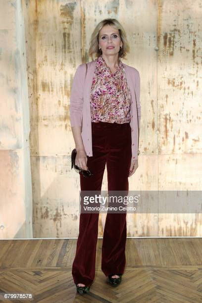 Isabella Ferrari while attending the Prada Resort 2018 Womenswear Show in Osservatorio on May 7 2017 in Milan Italy