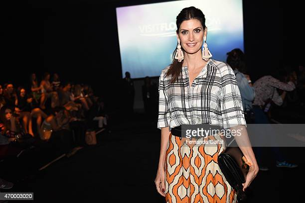 Isabella Fiorentino attends GIG Couture Front Row at SPFW Summer 2016 at Parque Candido Portinari on April 16 2015 in Sao Paulo Brazil