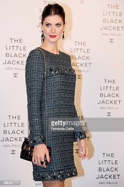 Isabella Fiorentino attends the Chanel Little Black Jacket event on October 29 2013 in Sao Paulo Brazil