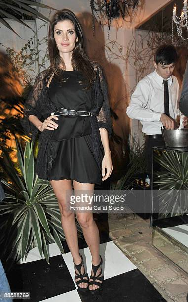 Isabella Fiorentino attends the party of the Yves Saint Laurent fragrance La Nuit de L'Homme on June 20 2009 in Sao Paulo Brazil