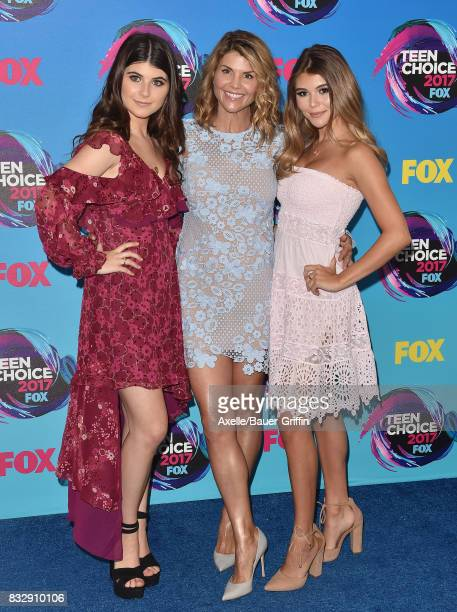 Isabella Giannulli Lori Loughlin and Olivia Giannulli arrive at the Teen Choice Awards 2017 at Galen Center on August 13 2017 in Los Angeles...