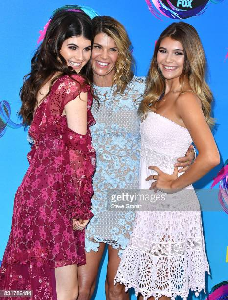 Isabella Giannulli Lori Loughlin and Olivia Giannulli arrives at the Teen Choice Awards 2017 at Galen Center on August 13 2017 in Los Angeles...