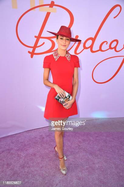 Isabella Giovinazzo attends the Birdcage on Melbourne Cup Day at Flemington Racecourse on November 05 2019 in Melbourne Australia