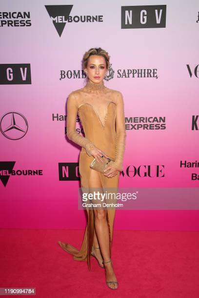 Isabella Giovinazzo attends the NGV Gala 2019 at the National Gallery of Victoria on November 30 2019 in Melbourne Australia