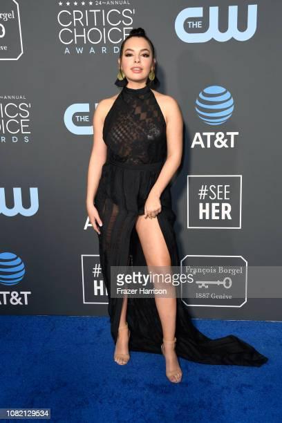 Isabella Gomez attends the 24th annual Critics' Choice Awards at Barker Hangar on January 13 2019 in Santa Monica California