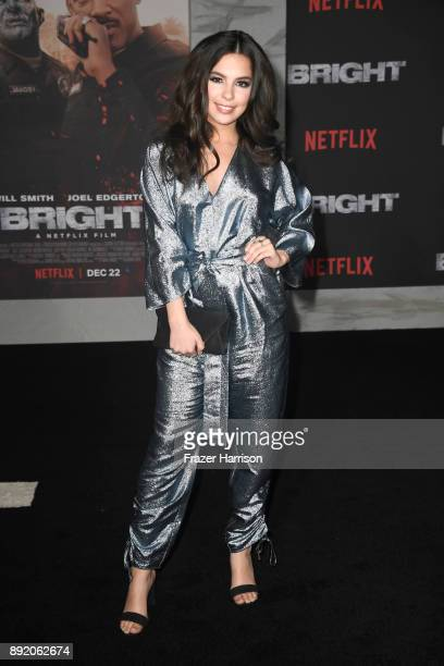 Isabella Gomez attends the Premiere Of Netflix's Bright at Regency Village Theatre on December 13 2017 in Westwood California