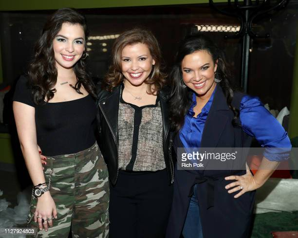 Isabella Gomez Justina Machado and executive producer Gloria Calderon Kellett attend the One Day at a Time Season Three Screening and Panel at the...