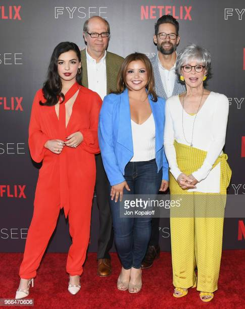 Isabella Gomez Stephen Tobolowsky Justina Machado Todd Grinnell and Rita Moreno attend #NETFLIXFYSEE Event For One Day At A Time at Netflix FYSEE At...