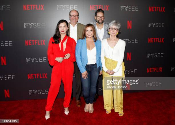 Isabella Gomez Stephen Tobolowsky Justina Machado Todd Grinnell and Rita Moreno attend the #NETFLIXFYSEE event for 'One Day At A Time' at Netflix...