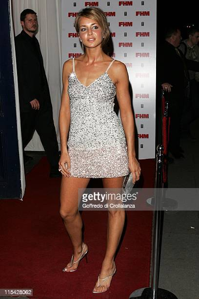 Isabella Hervey during The FHM 100 Sexiest Women In The World Party 2006 Outside Arrivals at Madame Tussauds in London Great Britain
