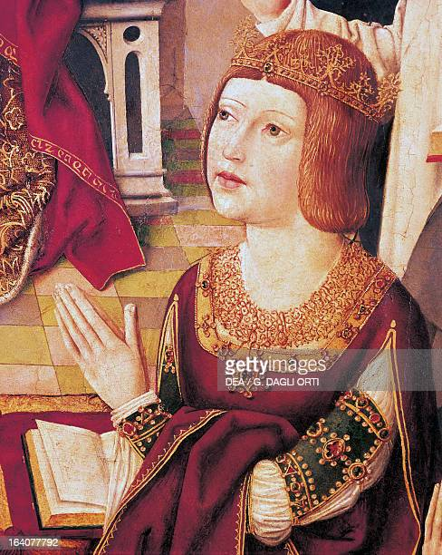 Isabella I of Castile or Isabella the Catholic Queen Consort of Sicily Queen of Castile and Queen Consort of Aragon Valencia Sardinia Majorca and...