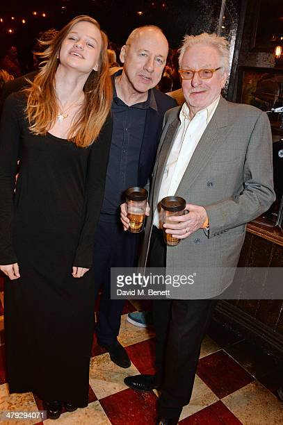 Isabella Knopfler Mark Knopfler and Hugh Hudson attend the 'Once The Musical' Oxfam Gala performance at Phoenix Theatre on March 17 2014 in London...