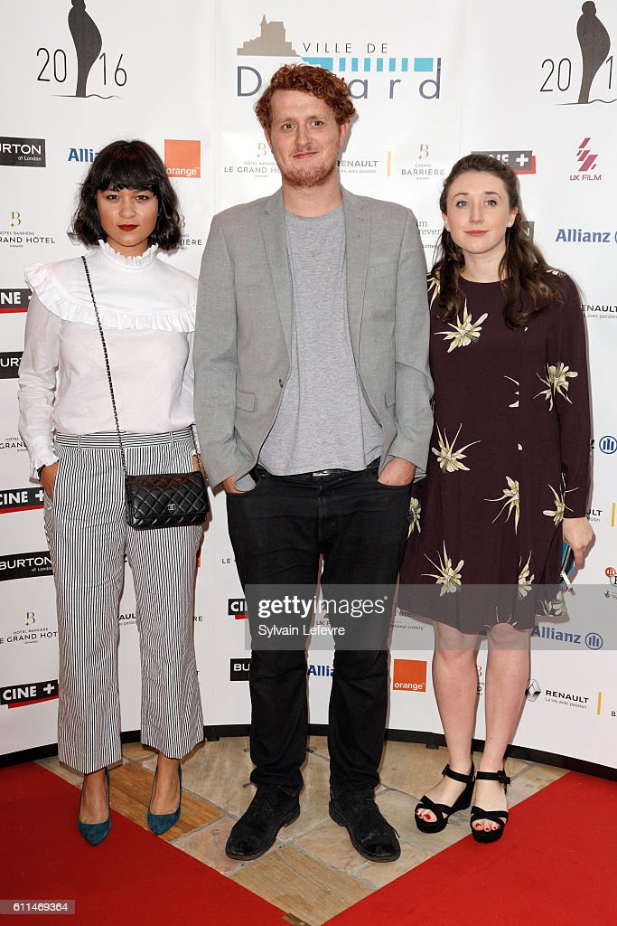 Isabella Laughland, Harry Michell and Helen Simmons attend the opening ceremony of the 27th Dinard British Film Festival on September 29, 2016 in Dinard, France.