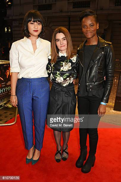 Isabella Laughland Shirley Henderson and Letitia Wright attend a charity screening of 'Urban Hymn' in support of NSPCC Childline at The Curzon...
