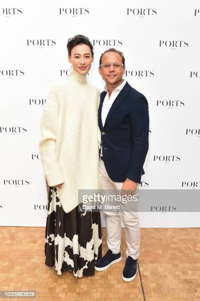 Isabella Leong and Marc Boelen backstage at the Ports 1961 Spring Summer 2019 Show on September 15 2018 in London England