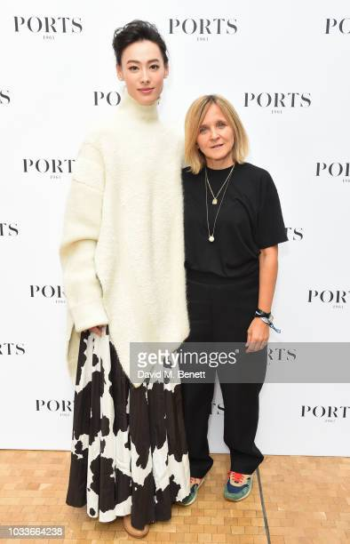 Isabella Leong and Nataaa backstage at the Ports 1961 Spring Summer 2019 Show on September 15 2018 in London England