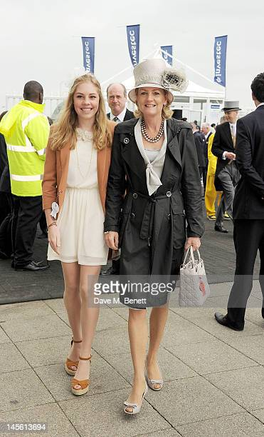 Isabella Lloyd Webber and Madeleine Lloyd Webber attend Investec Derby Day at the Investec Derby Festival the first official event of the Queen's...