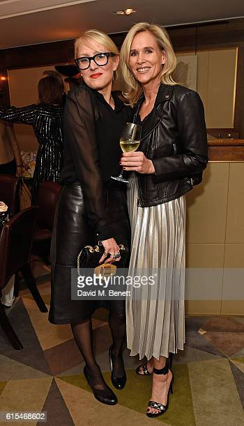Isabella MacPherson and Tia Graham attend the launch of the unique collaboration between designers John Monique Davidson and artist Tanya Ling at JM...