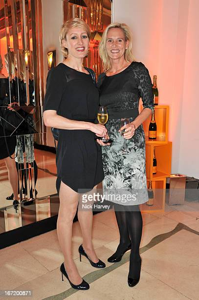 Isabella Macpherson and Tia Graham attend the Veuve Clicquot Business Woman of the Year award at Claridges Hotel on April 22 2013 in London England