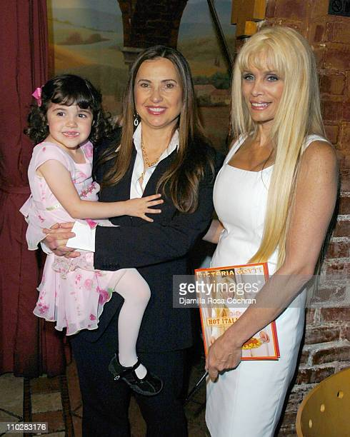 Isabella Madonna Judith Regan and Victoria Gotti during Victoria Gotti Celebrates the Launch of Her New Book Hot Italian Dish May 16 2006 at Nino's...