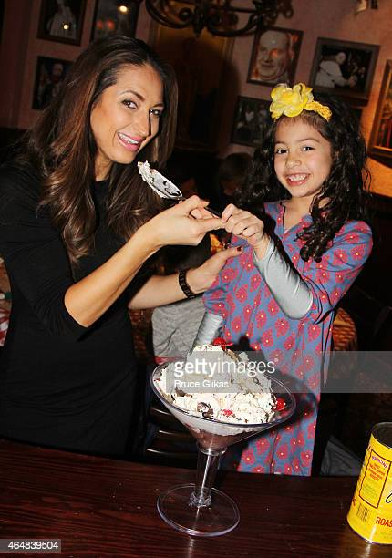 "Isabella Marchese and mother ""The Real Housewives of New Jersey's"" Amber Marchese visit Buca di Beppo Times Sqaure on February 28, 2015 in New York..."