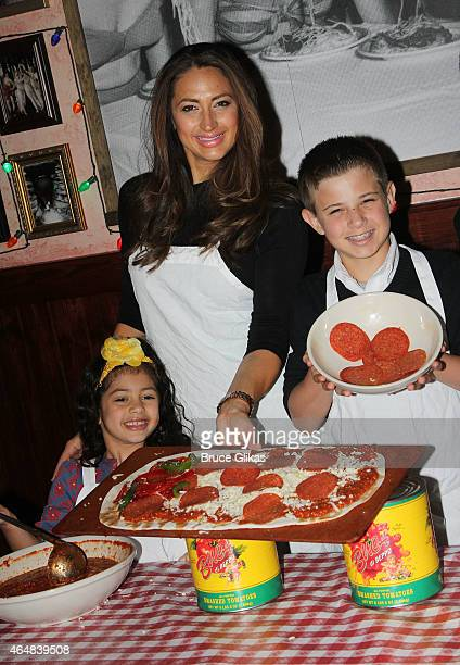 "Isabella Marchese, mother ""The Real Housewives of New Jersey's"" Amber Marchese and son Sebastian Marchese visit Buca di Beppo Times Sqaure on..."