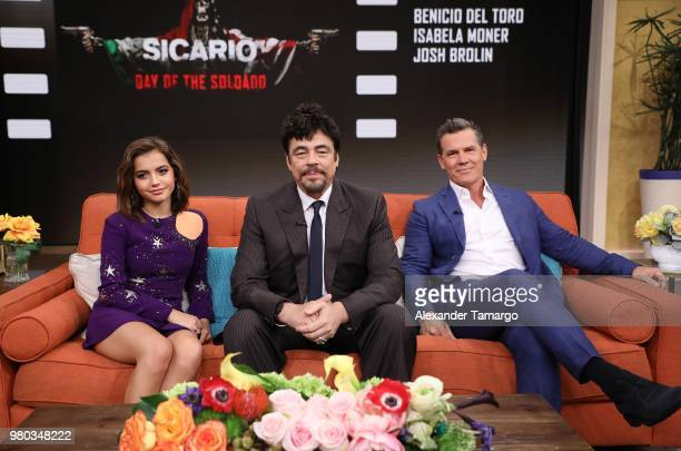 Isabella Moner is seen on the set of 'Despierta America' at Univision Studios to promote the film 'Sicario Day of the Soldado' on June 21 2018 in...