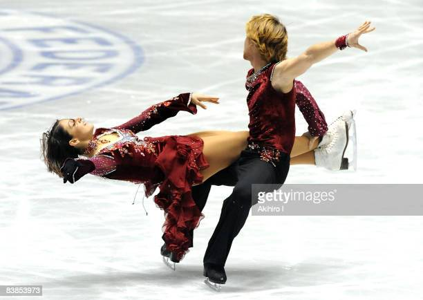 Isabella Pajardi and Stefano Caruso of Italy compete in the Ice Dance Free Dance of the ISU Grand Prix of Figure Skating NHK Trophy at Yoyogi...