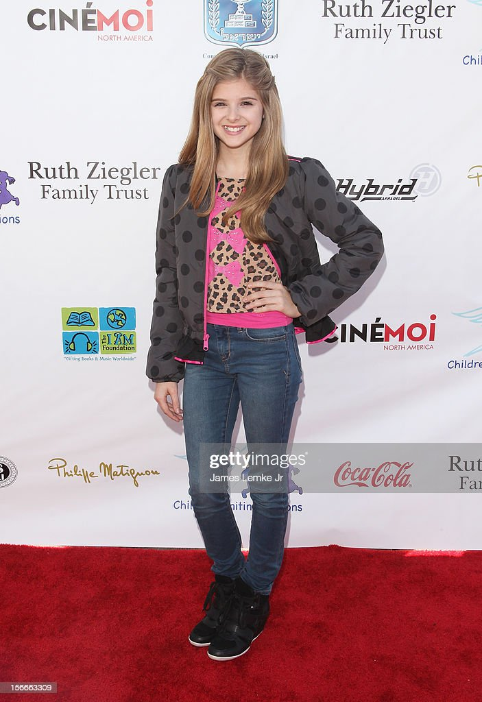 Isabella Palmieri attends the Children Uniting Nations' Day of The Child Fundraiser held at the Santa Monica Pier on November 18, 2012 in Santa Monica, California.