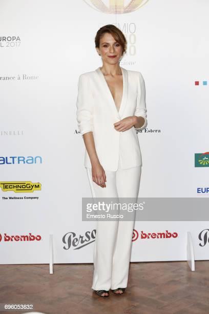 Isabella Ragonese attends 2017 Globi D'Oro Awards at Villa Medici on June 14 2017 in Rome Italy