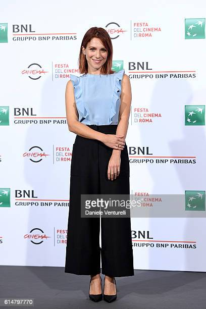 Isabella Ragonese attends a photocall for 'Sole Cuore Amore' during the 11th Rome Film Festival at Auditorium Parco Della Musica on October 15 2016...
