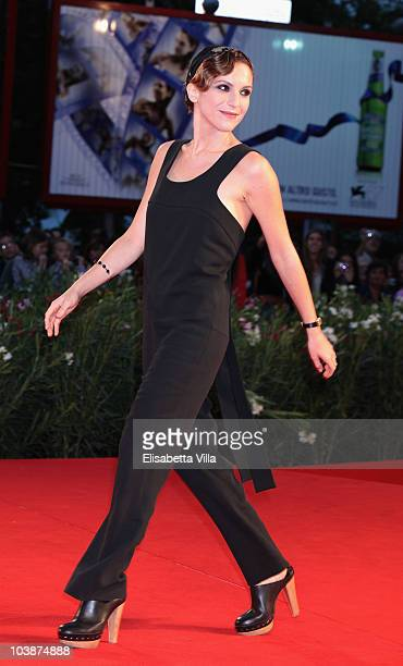 Isabella Ragonese attends the Vallanzasca premiere during the 67th Venice Film Festival at the Sala Grande Palazzo Del Cinema on September 6 2010 in...