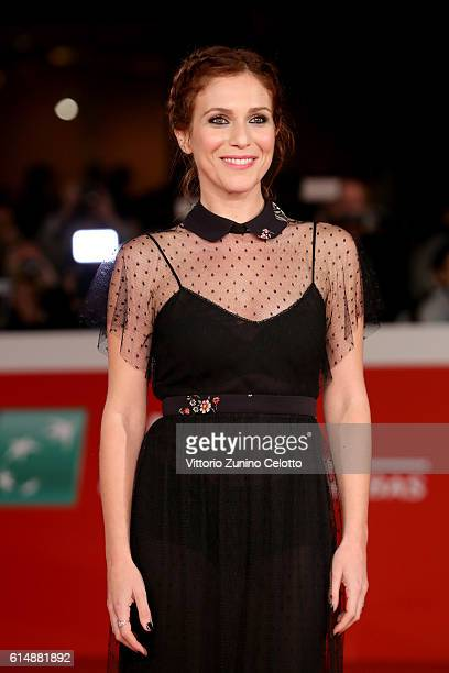Isabella Ragonese walks a red carpet for 'Sole Cuore Amore' during the 11th Rome Film Festival at Auditorium Parco Della Musica on October 15 2016 in...