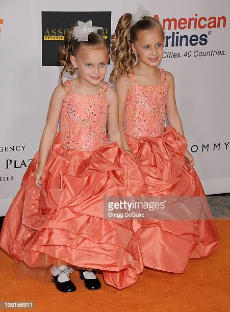 Isabella Rickel and Mariella Rickel arrive at the 17th Annual Race to Erase MS event at the Hyatt Regency Century Plaza Hotel on May 7 2010 in...