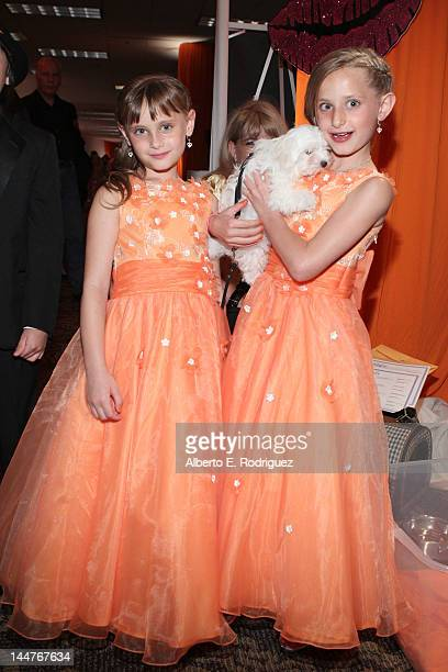 Isabella Rickel and Mariella Rickel arrive at the 19th Annual Race to Erase MS held at the Hyatt Regency Century Plaza on May 18 2012 in Century City...