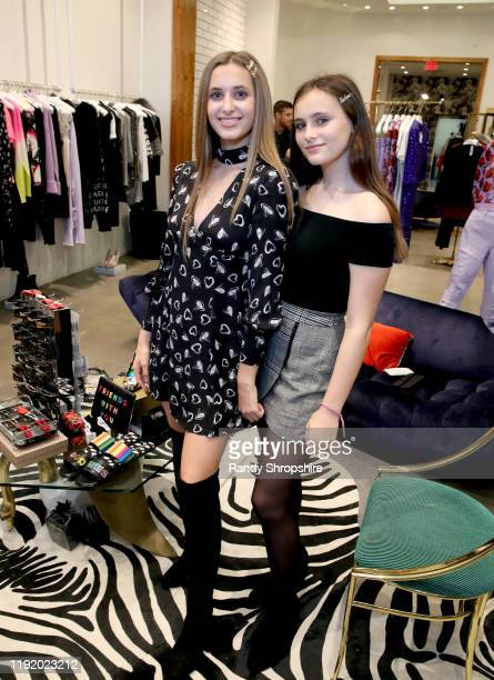 Isabella Rickel and Mariella Rickel attend Shop To Erase MS presented by Stacey Bendet to benefit Race To Erase MS at Alice Olivia Boutique on...