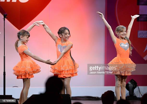 Isabella Rickel dancer and Mariella Rickel perform at the 20th Annual Race To Erase MS Gala Love To Erase MS at the Hyatt Regency Century Plaza on...