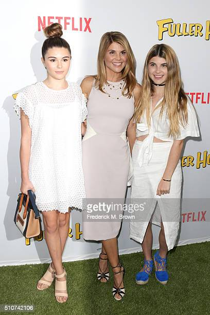 Isabella Rose Giannulli actress Lori Loughlin and Olivia Jade Giannulli attend the premiere of Netflix's Fuller House at Pacific Theatres at The...