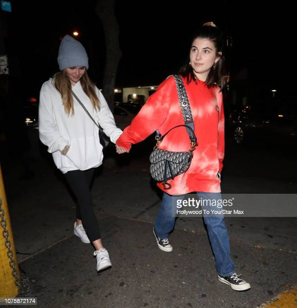 Isabella Rose Giannulli and Olivia Jade Giannulli are seen on December 29 2018 in Los Angeles CA