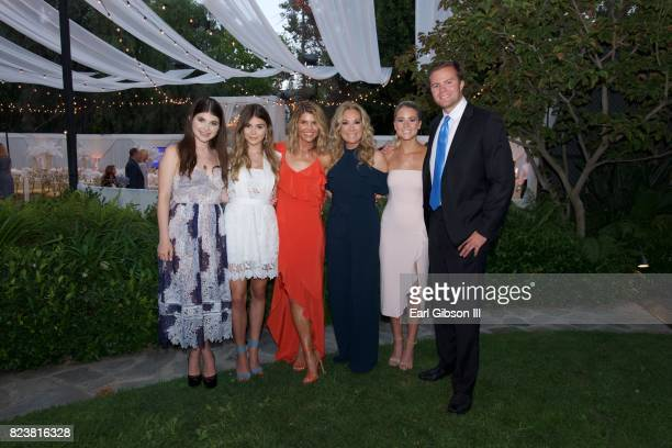 Isabella Rose Giannulli Jade Giannulli Lori Loughlin Kathie Lee Gifford Cassidy Gifford and Cody Gifford attend the 2017 Summer TCA TourHallmark...