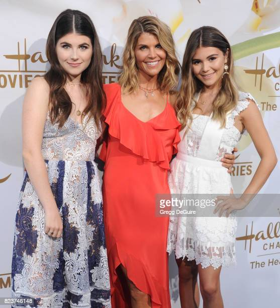 Isabella Rose Giannulli Lori Loughlin and Olivia Jade Giannulli arrive at the 2017 Summer TCA Tour Hallmark Channel And Hallmark Movies And Mysteries...