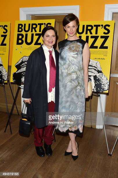Isabella Rossellini and Elettra Rossellini Wiedemann attends Burt's Buzz screening at Crosby Street Hotel on May 29 2014 in New York City